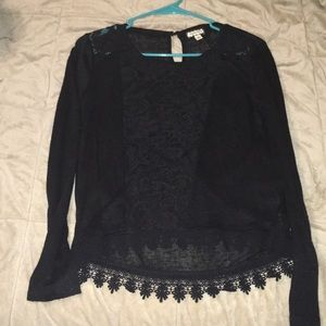 Black lacy long sleeve